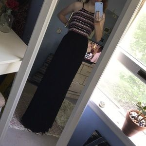 Boho black maxi dress